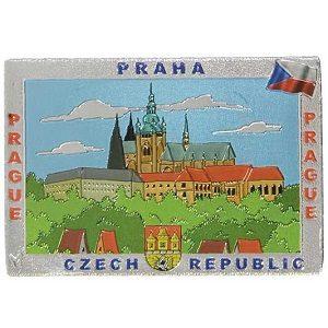 Magnetka Praha Hradčany kresba