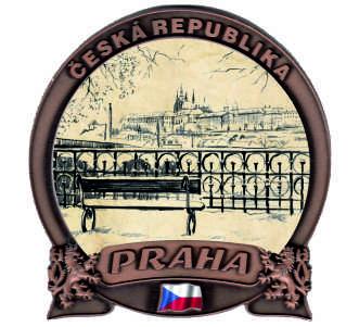 Magnetka Praha Hradčany - lavička