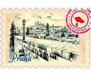 Magnetka známka Praha Karlův most