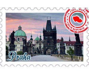 Magnetka známka Praha Prašná Brána