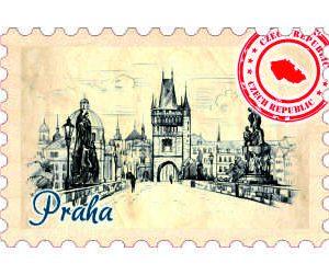 Magnetka známka Praha Prašná brána.