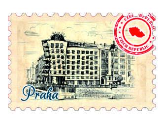 Magnetka známka Praha Tančící dům.