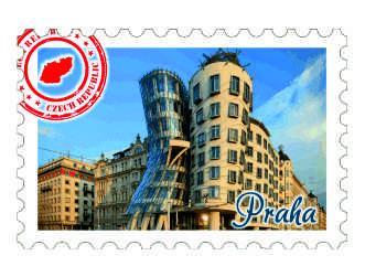 Magnetka známka Praha Tančící dům