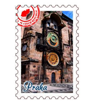 Magnetka známka Praha Orloj