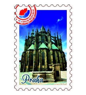 Magnetka známka Praha Pražský hrad